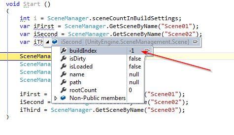 SceneManager buildIndex ist leider gleich -1 - Scripting