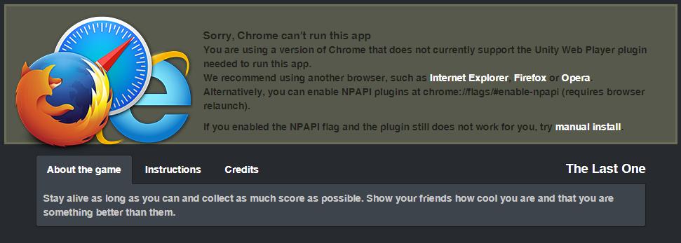 Unity Webplayer Support Chrome/Edge - Allgemeine Hilfe